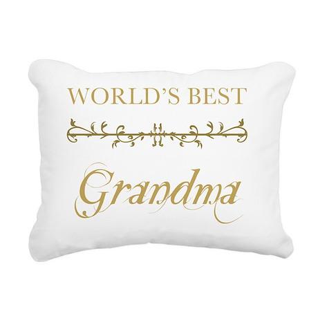 Gold_Grandma Rectangular Canvas Pillow