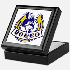 rodeo cowboy bucking bronco horse hor Keepsake Box