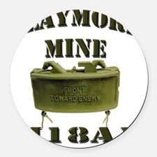claymore Round Car Magnet