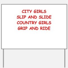 country girls Yard Sign