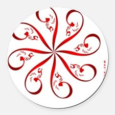eshgh-4misc35-rotating-rd-ipod4-t Round Car Magnet