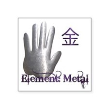 "Element_Metal Square Sticker 3"" x 3"""