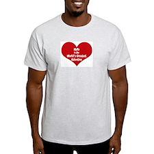 Greatest Valentine: Halle Ash Grey T-Shirt