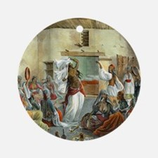Egyptian-Harem_Dancing_Mous Round Ornament