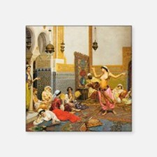 "The-Harem-Dance_Giulio-Rosa Square Sticker 3"" x 3"""
