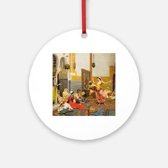 The-Harem-Dance_Giulio-Rosa Round Ornament