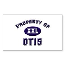 Property of otis Rectangle Decal