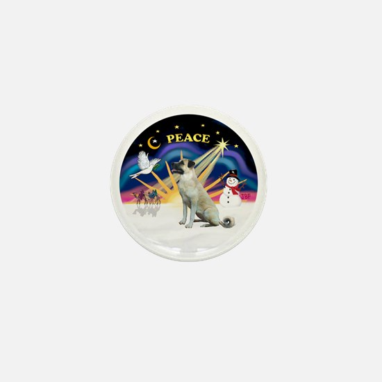 Xmas Sunrise - Anatolian Shepherd - bl Mini Button