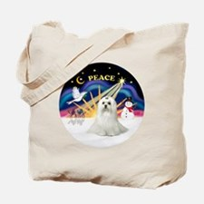 Xmas Sunrise - Maltese (C) Tote Bag