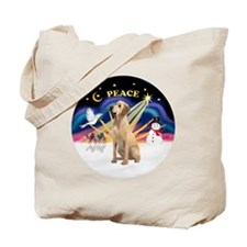 Xmas Sunrise - Yellow Labrador Tote Bag