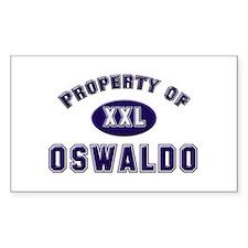 Property of oswaldo Rectangle Decal