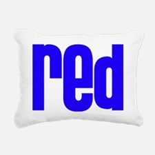red_blue Rectangular Canvas Pillow