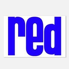 red_blue Postcards (Package of 8)
