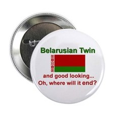 "Good Lkg Belarus Twin 2.25"" Button"