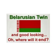 Good Lkg Belarus Twin Rectangle Magnet