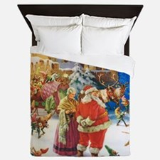 SANTA CLAUS 30_SQ Queen Duvet