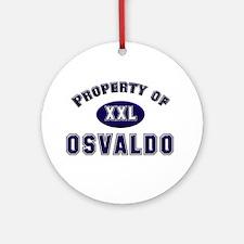 Property of osvaldo Ornament (Round)