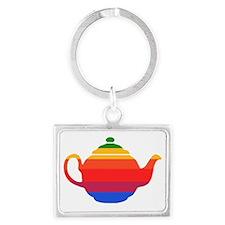 Apple Mac Teapot-1 Landscape Keychain