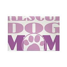 Rescue-Dog-Mom Rectangle Magnet