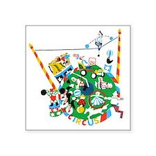 """Circus Square Sticker 3"""" x 3"""""""