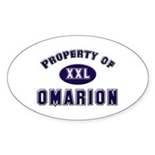 Property of omarion Oval Decal