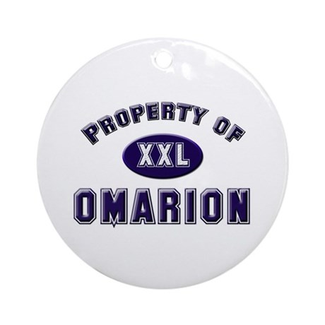 Property of omarion Ornament (Round)