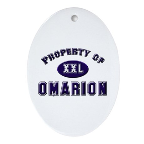 Property of omarion Oval Ornament