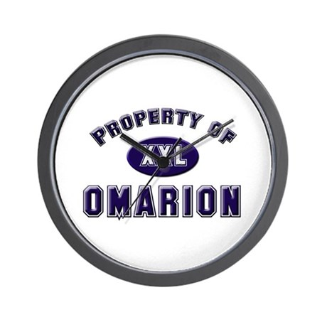 Property of omarion Wall Clock