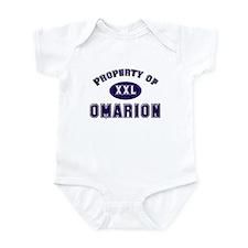 Property of omarion Infant Bodysuit