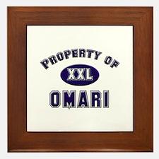 Property of omari Framed Tile