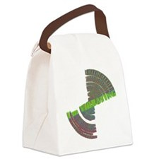 vibrating dark Canvas Lunch Bag
