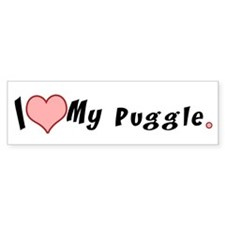 I love my puggle Bumper Bumper Sticker