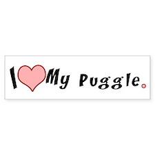 I love my puggle Bumper Bumper Sticker