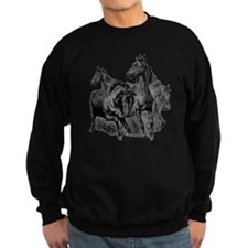 4 Horse Illustration Sweatshirt