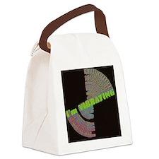 vibrating blk square Canvas Lunch Bag