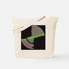 vibrating blk square Tote Bag