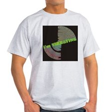 vibrating blk square T-Shirt