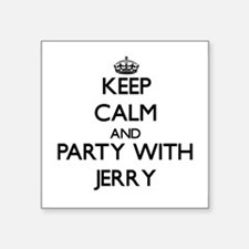 Keep Calm and Party with Jerry Sticker