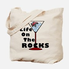 On Rocks Martini BLACK Tote Bag
