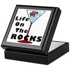 On Rocks Martini BLACK Keepsake Box