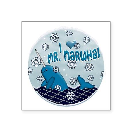 "MR NORWHAL ORIGINAL Square Sticker 3"" x 3"""