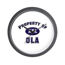 Property of ola Wall Clock