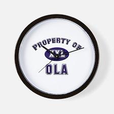 Property of ola Wall Clock