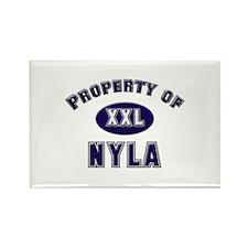 Property of nyla Rectangle Magnet