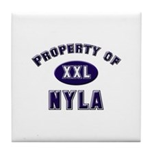 Property of nyla Tile Coaster
