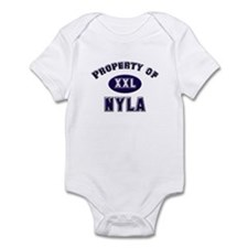 Property of nyla Infant Bodysuit