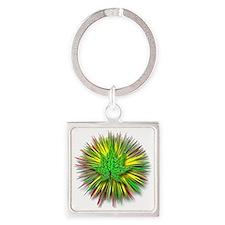 RYG glo leaf Square Keychain
