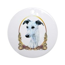 Whippet Christmas/Holiday Ornament (Round)
