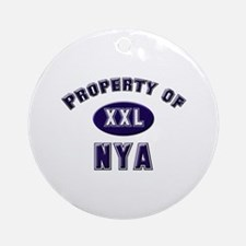 Property of nya Ornament (Round)