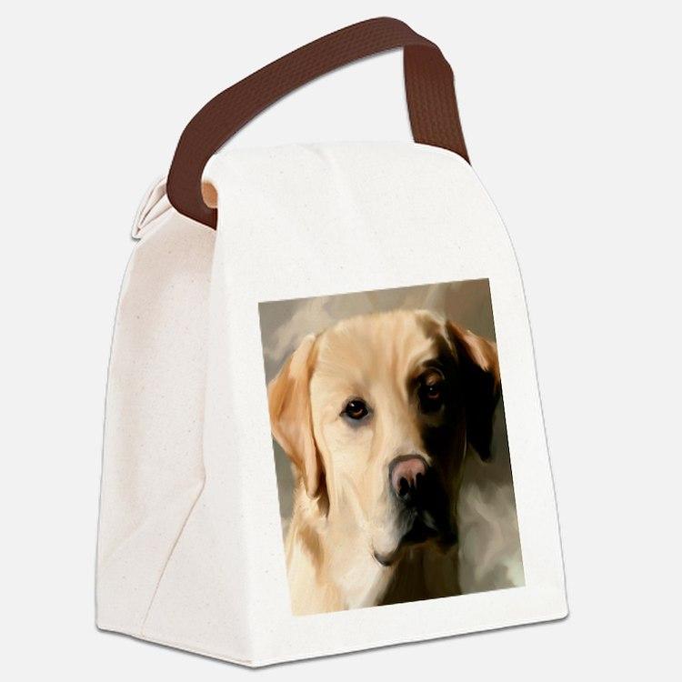 16x20YellowLab Canvas Lunch Bag